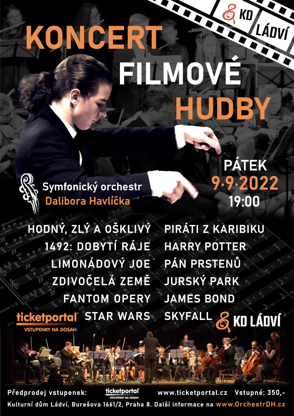 Koncert filmové hudby -Kulturní dům Ládví, Burešova 1661, Praha 8